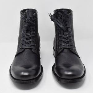 Frye Lace Up Boots Men 8.5 New No Box Tyler Black